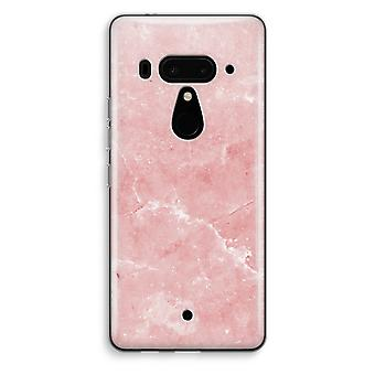 HTC U12+ Transparent Case - Pink Marble