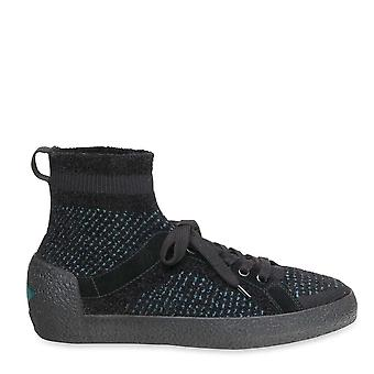 Ash Footwear Ninja Tweed Black Knit Trainer