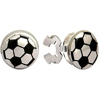 David Van Hagen Football Button Covers - Black/Silver