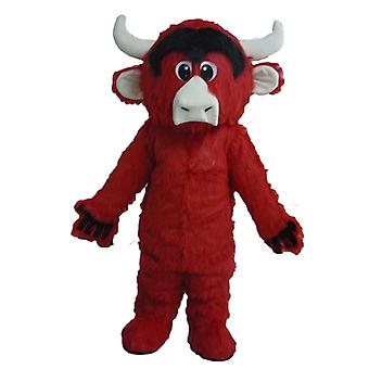 mascot cow red, black and white, all hairy SPOTSOUND