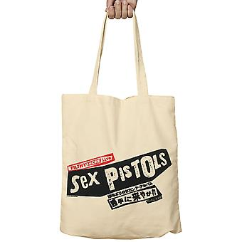 Sex Pistols Tote Bag Filthy Lucre Live Japan Band Logo new Official Beige Fabric