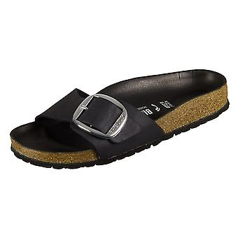 Birkenstock Madrid Big Buckle Black Natural Leather 1006523 universal  women shoes
