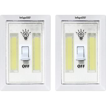 Infapower F043 3W COB Magnetic Base Switch Light Twin Pack