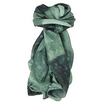 桑絹手描きの長いスカーフ パシュミナ ・ シルクによる古典的な炭