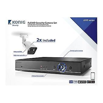 CCTV set-Full HD DVR, 1 TB HDD, 2 x security cameras