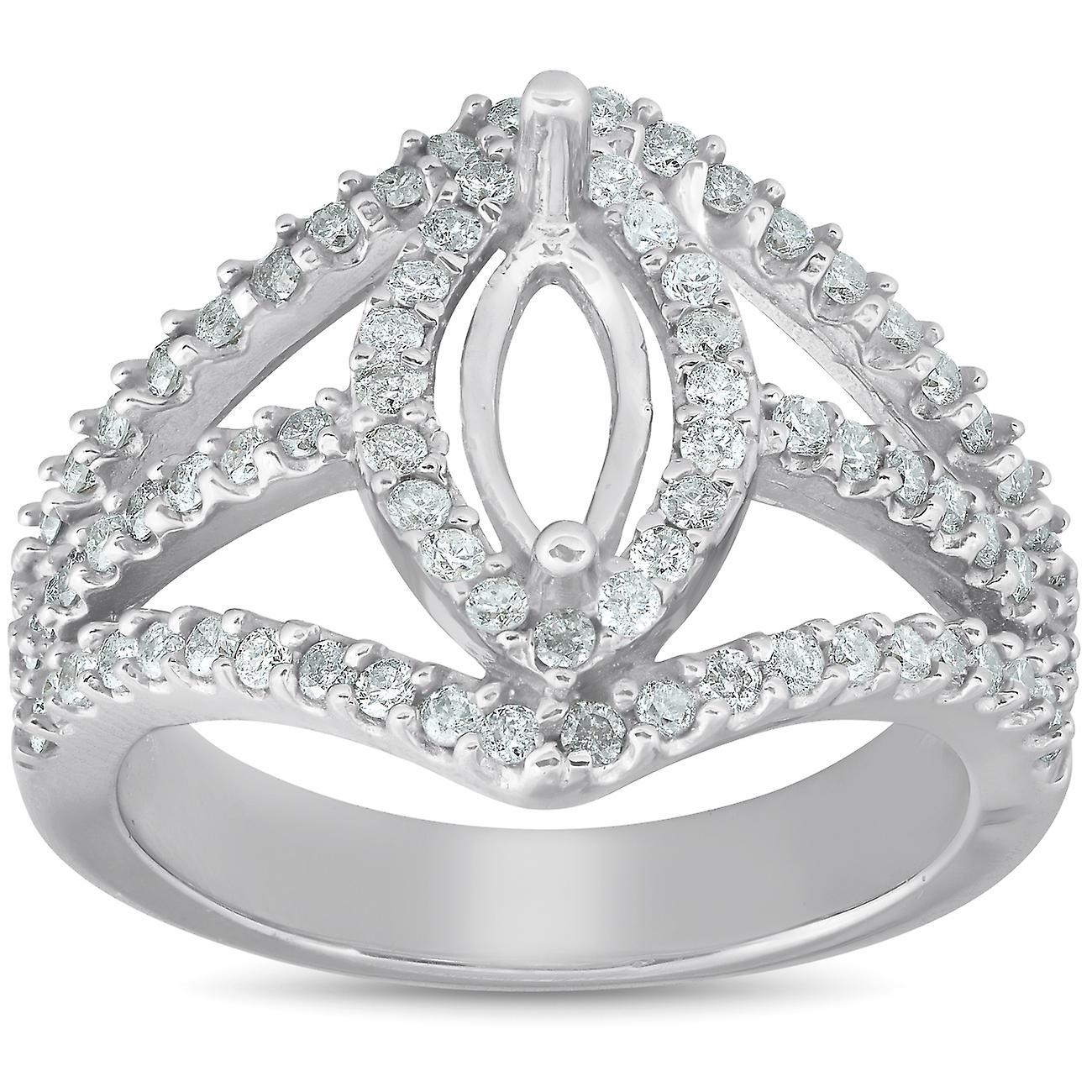 7 8 Ct Diamond EngageHommest Marquise Setting 14k blanc or Halo Mounting