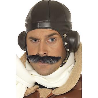 Fliegerhut Hut Flieger Pilotenkappe Helm Pilot Kappe Herren