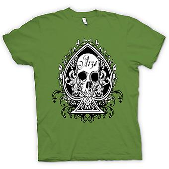 Mens t-shirt-cranio noi Biker asso di picche