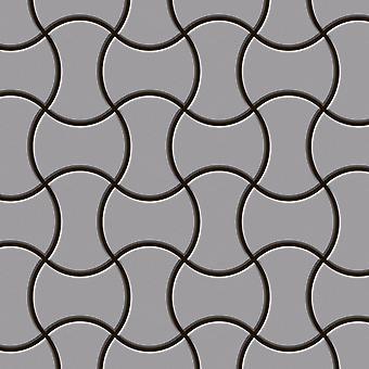 Mosaico de metal sólido Acero inoxidable ALLOY Infinit-S-S-MA