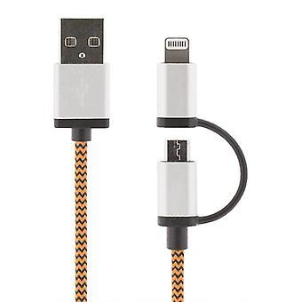 / Laddarkabel USB synchronisieren mit iPod, iPhone, iPad 2 m-orange