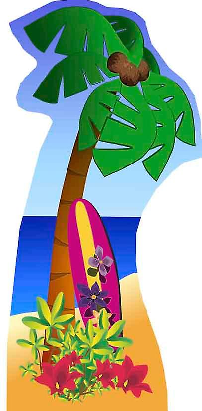 Palm Tree (Beach Party) - Lifesize karton gestanst / Standee