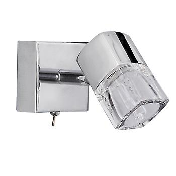 Searchlight 9881CC Chrome Single Spotlight with Switch