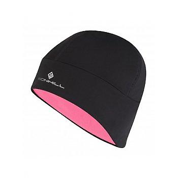Pro Beanie Black / rose fluo