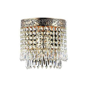 Maytoni Lighting Palace Diamant Crystal Sconce, Gold