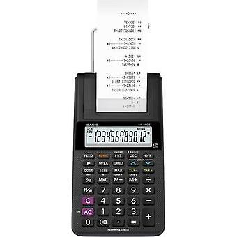 Rekenmachine met ingebouwde printer Casio HR-8RCE zwart Display (cijfers): 12 batterij-aangedreven, lichtnet-aangedreven (optioneel) (W x H x D) 102 x 42 x 209 mm
