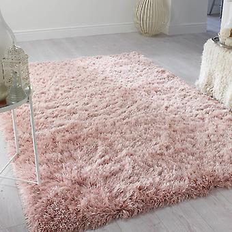 Dazzle Blush Pink  Rectangle Rugs Plain/Nearly Plain Rugs