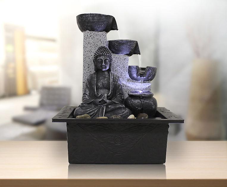 Indoor fountain Dekobrunnen FoBuddha Pot with LED 10782