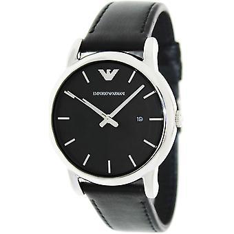Emporio Armani Men es Classic Ar1692 Black Leather Quarz Watch
