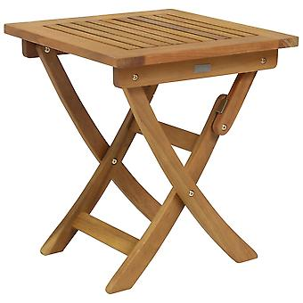 Charles Bentley FSC Eukalyptus Wooden Small Folding Side Table-Compact Traditional Design Foldable