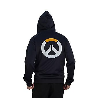 Overwatch Logo Athletic Tech Hooded Zip Dark Male Medium Blue/Black CHM007OW-M