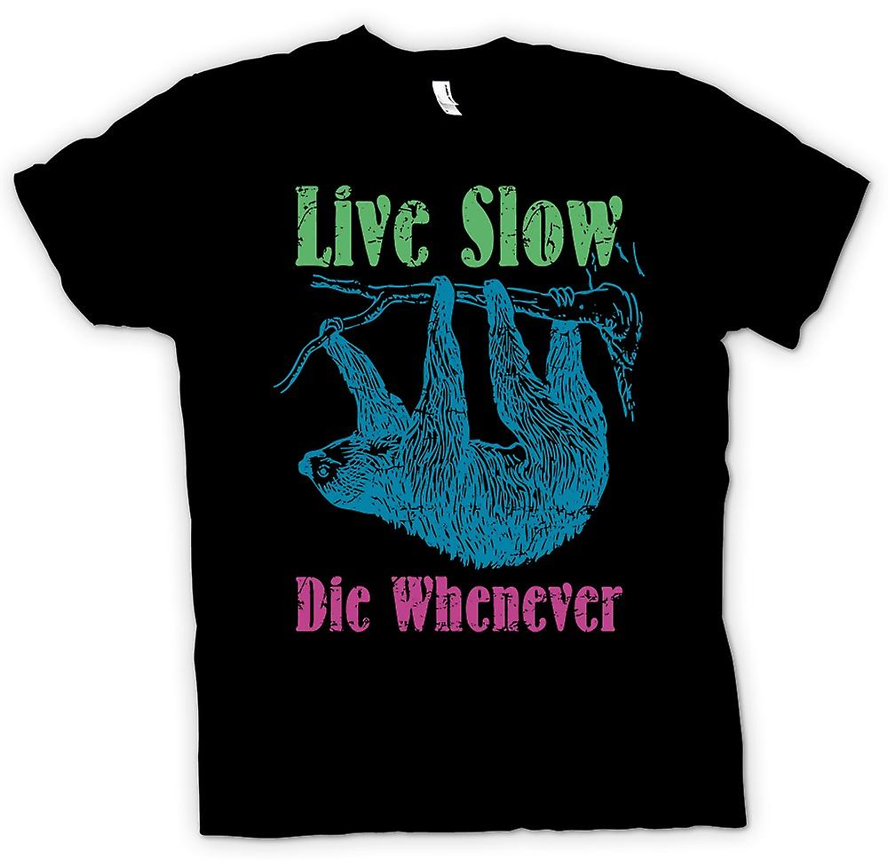 Kids T-shirt - Live Slow Die Whenever - Cool Sloth