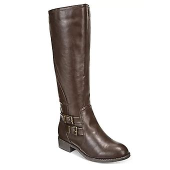 Style & Co. Women's Milah Tall Boots, Dark Brown, Size 9