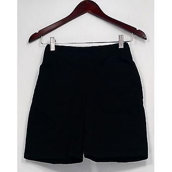 Denim et Co. Shorts 'quot;HowTimeless'quot; Stretch Denim Front Pockets Black A50254