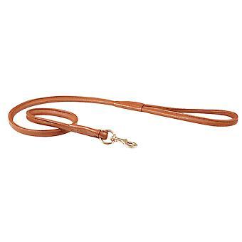 Weatherbeeta Rolled Leather Dog Lead - Tan