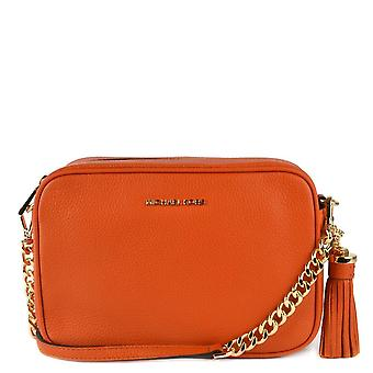 MICHAEL by Michael Kors Jet Set Burnt Orange Leather Crossbody Bag