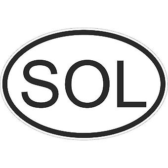 Autocollant Sticker Drapeau Oval Code Pays Voiture Moto Iles Salomon Sol