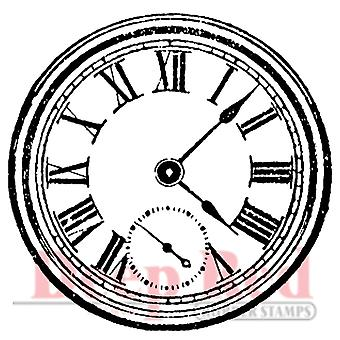Deep Red Cling Stamp Roman Clock 3X404237