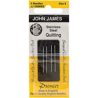 Stainless Steel Quilting Needles Size 8 4 Pkg Jj120 Ss 08