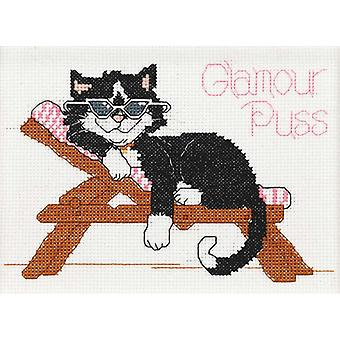 Suzy's Zoo Glamour Puss Mini Counted Cross Stitch Kit 7
