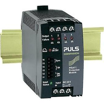 PULS DIMENSION PISA11.404, 4-Output DIN Rail Protection Module 24 V/DC 16 A