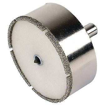 Wolfcraft Diamond hole saw  Ceramic  for porcelain with centering drill rod 10 mm, Depth