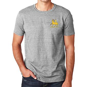 The Queens Royal Regiment Embroidered Logo - Official British Army Cotton T Shirt