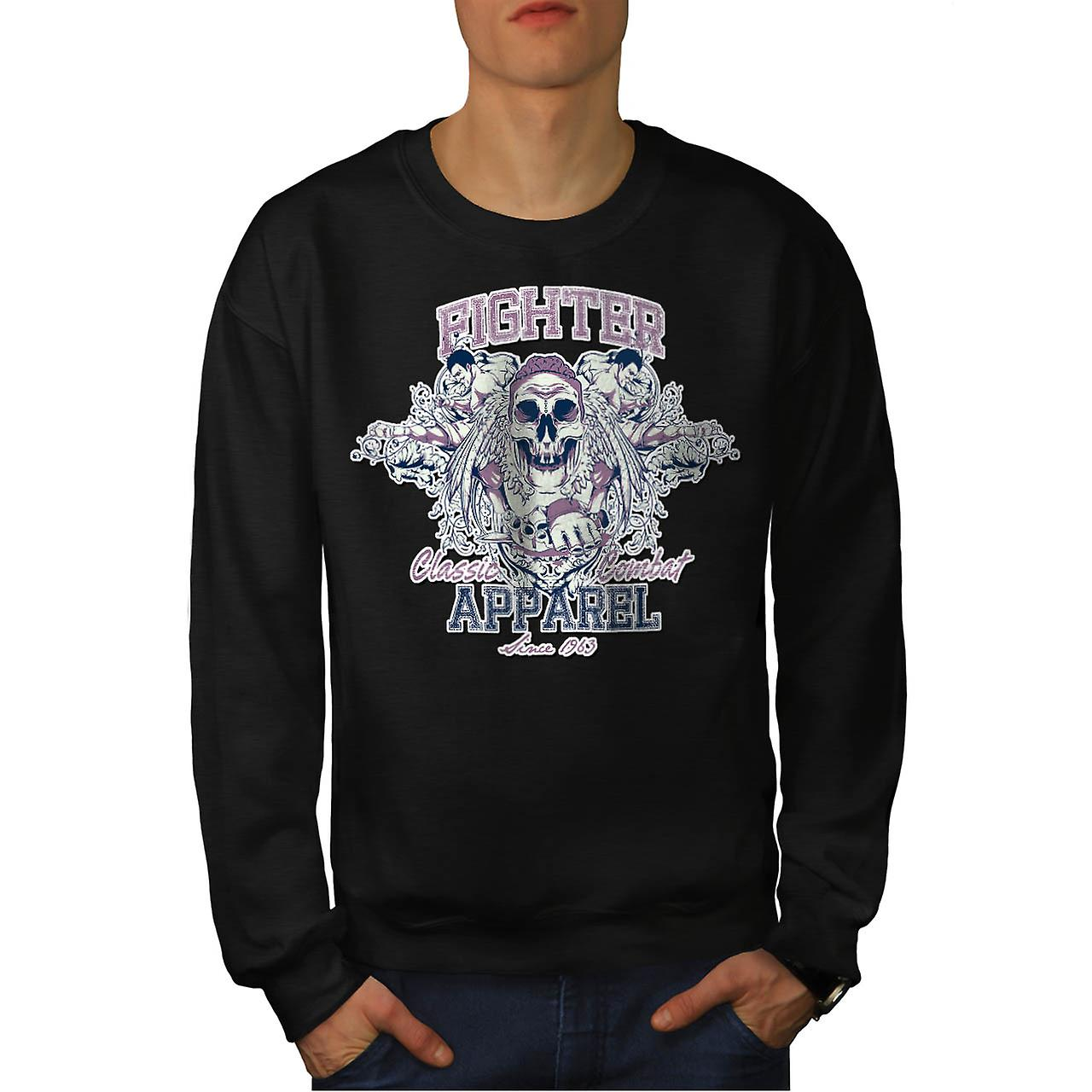 Fighter Classic Team Dead Combat Men Black Sweatshirt | Wellcoda
