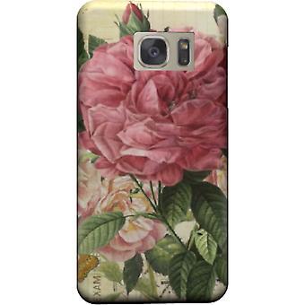 Vintage roze bloemen cover voor Galaxy Note 5