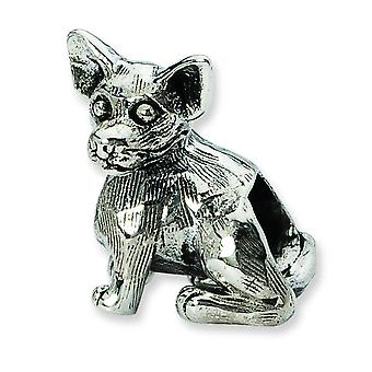 Sterling Silver Reflections Chihuahua Bead Charm