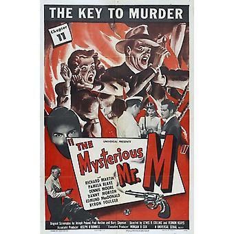 Der geheimnisvolle Herr M Film-Poster (11 x 17)