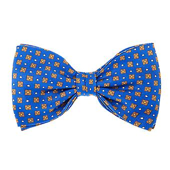 Pelo-bound men's bow tie silk loop box Royal Blue