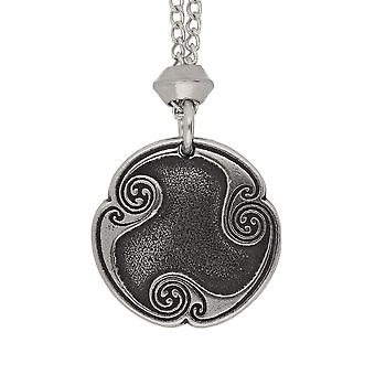 Handmade Norse Viking Wyrd Rune of Fate Pewter Pendant ~ 20 inch Chain