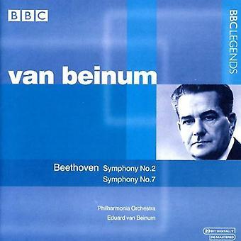 Larsen Beethoven - Beethoven: Symfonier nr. 2 & 7 [CD] USA import