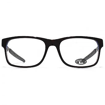 Animal Hariss Rectangle Acetate Glasses In Black On Blue