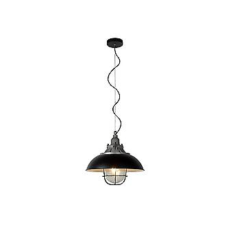Lucide GRINGO Industrial Steel Dome Pendant Lamp