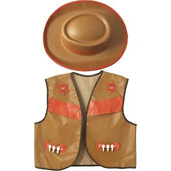 Cowboykostüm Kinderkostüm Western Kostüm Set 2-teilig Kinder