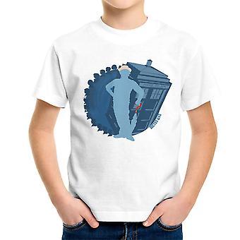 7th Doctor Who Silhouette Sylvester McCoy Tardis Kid's T-Shirt