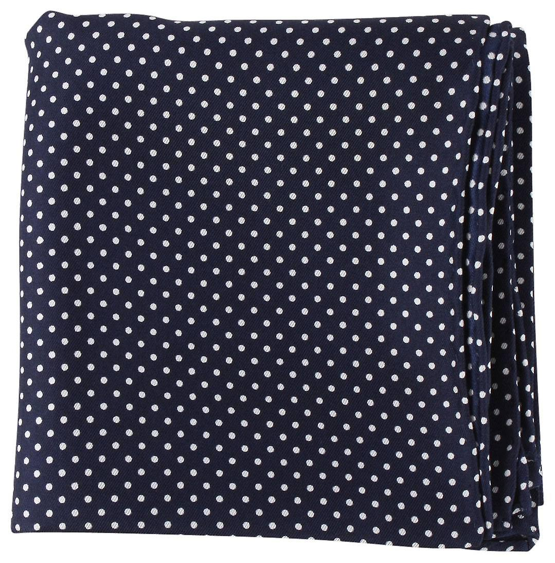 Michelsons of London Pin Dot Handkerchief - Navy/White