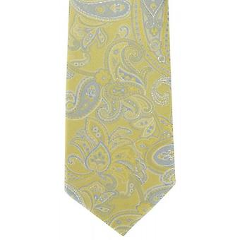 Michelsons of London Subtle Paisley Silk Tie - Yellow