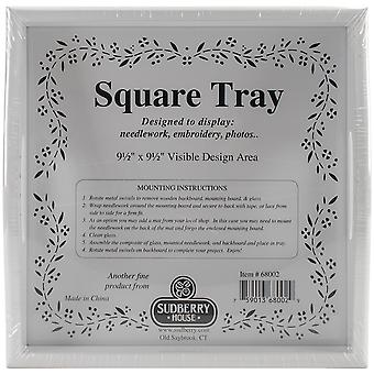 White Small Square Tray 10